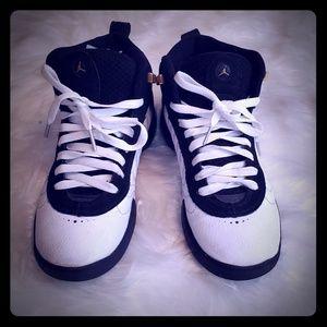 Black& white air Jordans/ jump mans.